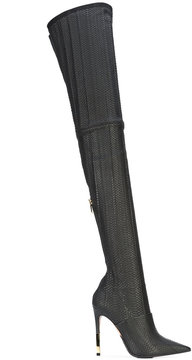 Balmain pointed toe knee boots