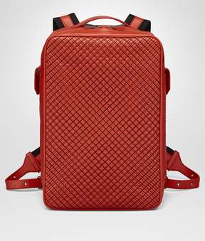 Bottega Veneta Terracotta Calf Grid Brick Backpack