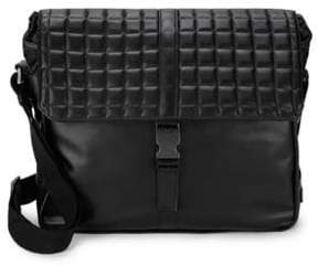 Emporio Armani Quilted Leather Messenger Bag