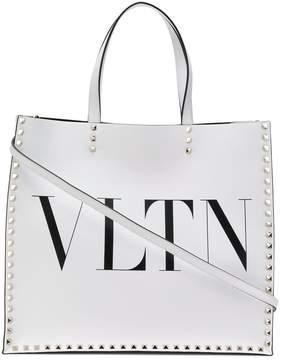 Valentino logo printed tote bag