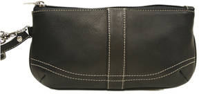 Women's Piel Leather Ladies Large Wristlet 2768