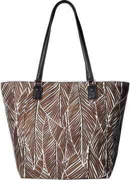 Vera Bradley Ella Tote Tote Handbags - BANANA LEAVES BROWN - STYLE
