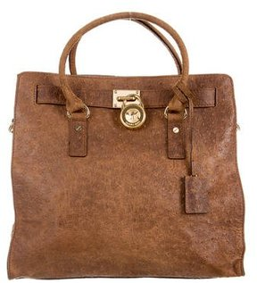 MICHAEL Michael Kors Embossed Large Hamilton Tote - BROWN - STYLE
