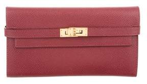 Hermes Epsom Kelly Longue Wallet - RED - STYLE