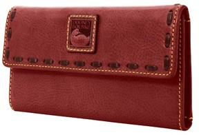 Dooney & Bourke Florentine Continental Clutch Wallet - CRIMSON - STYLE