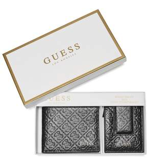 GUESS Men's Wallet Box Set