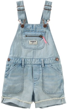 Osh Kosh Baby Girl Cuffed Denim Shortalls