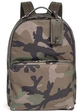 Valentino Rockstud camouflage print nylon backpack