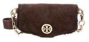 Tory Burch Shearling Crossbody Bag - BROWN - STYLE