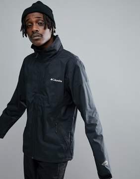 Columbia Inner Limits Waterproof Jacket Concealable Hood in Black