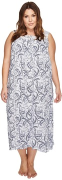 Eileen West Plus Size Paisley Woven Ballet Nightgown Women's Pajama