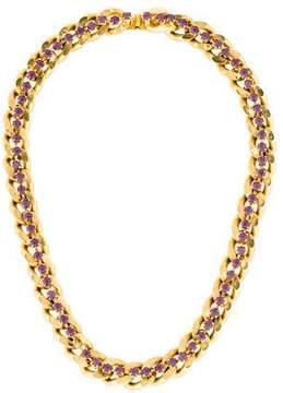 Dannijo Curb Link Crystal Necklace