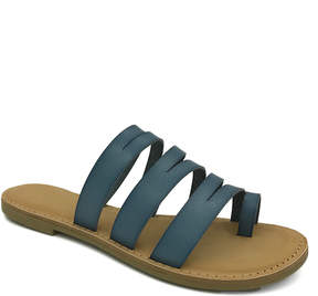 Bamboo Blue Strappy Christy Sandal - Women