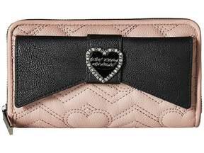 Betsey Johnson Large Bow Wallet Wallet Handbags