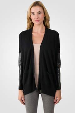 J CASHMERE Black Cashmere Dolman Cardigan Tunic Sweater
