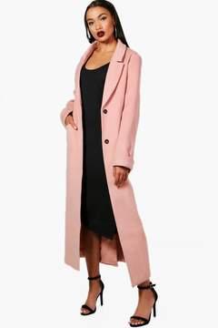 boohoo Oversized Maxi Wool Look Coat