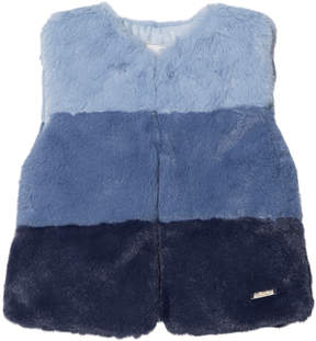 Mayoral Navy Ombre Faux Fur Gilet