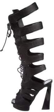 Proenza Schouler Leather Embossed Sandals