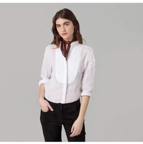 Amanda Wakeley   White Bib Front Linen Shirt   Xl   White