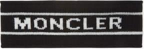 Moncler Logo print knitted virgin wool headband
