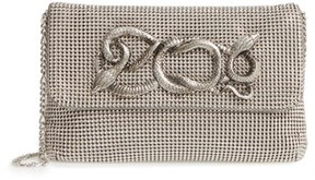 Whiting & Davis Serpent Mesh Clutch - Grey