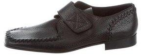 Dolce & Gabbana Grain Leather Square-Toe Loafers