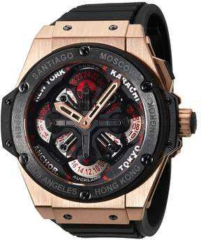 Hublot Big Bang King Power Unico GMT King Gold Black Rubber Men's Watch
