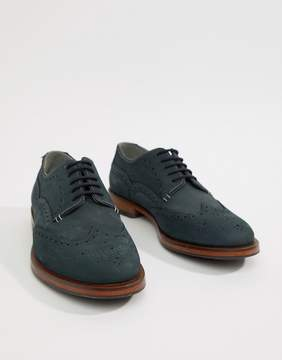 Ted Baker Senape Suede Brogues In Navy
