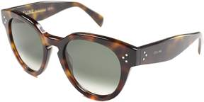 Celine Round Plastic Sunglasses.