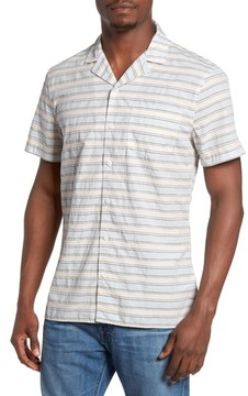 1901 Men's Jacquard Stripe Camp Shirt