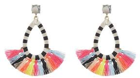 BaubleBar Sandbar Stone & Tassel Drop Earrings