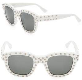 Saint Laurent 48MM Studded Square Sunglasses