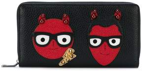 Dolce & Gabbana devil continental purse - BLACK - STYLE