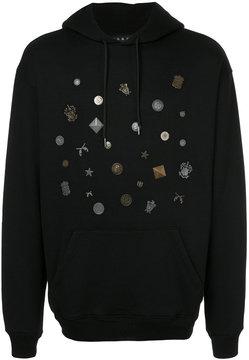 Roar studded crest hoodie