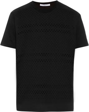 GIVENCHY Laser-cut cross cotton T-shirt
