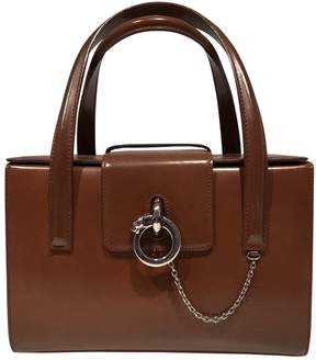 Cartier Vintage Panthere Brown Leather Handbag