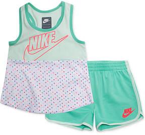 Nike Toddler Girls 2-Pc. Futura Colorblocked Tank Top & Shorts Set