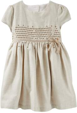 Osh Kosh Oshkosh Bgosh Toddler Girls Sequined Flannel Dress