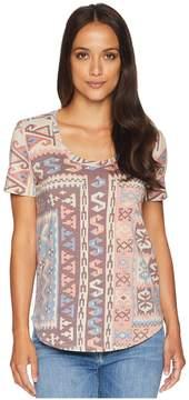 Lucky Brand All Over Print Tee Women's T Shirt