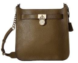 Michael Kors MICHAEL ??Hamilton Medium North/South Messenger Olive - GREEN - STYLE