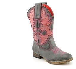 Volatile Prescott Youth Round Toe Synthetic Western Boot.