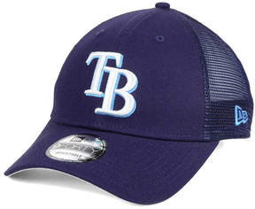 New Era Tampa Bay Rays Team Trucker Patch 9FORTY Snapback Cap