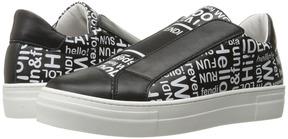 Fendi Word Print Slip-On Sneakers (Big Kid)