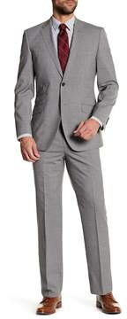 English Laundry Gray Two Button Notch Lapel Wool Trim Fit Suit