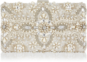 Aimee Embellished Bridal Box Clutch Bag