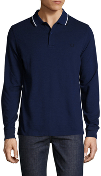 Fred Perry Men's Long Sleeve Twin Tipped Polo
