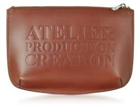A.P.C. Women's Brown Leather Clutch.