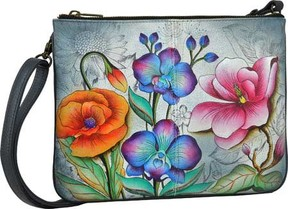 Anuschka Hand Painted Triple Compartment Crossbody (Women's)