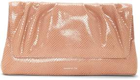 Louise et Cie Aisa Snake-embossed Clutch