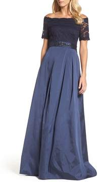 Adrianna Papell Women's Off The Shoulder Gown